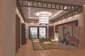 asian design living room large zen open concept living room idea