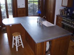 kitchen island custom zinc countertops brooks custom