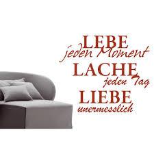 lebensmotto sprüche liebe lebe lache wandtattoo www spruechetante de