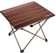 compact folding beach table amazon com trekology portable cing tables with aluminum table