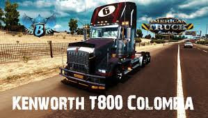 kenworth america american truck simulator kenworth t800 colombia youtube