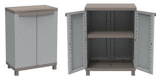 armadietto esterno armadietto basso in resina da esterno terry storage 2 ante 2 ripiani