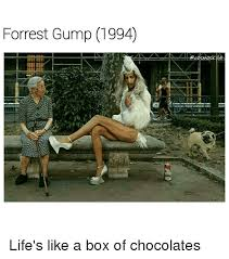 Life Is Like A Box Of Chocolates Meme - forrest gump 1994 scosmoskyte life s like a box of chocolates
