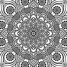 beautiful mandala coloring pages mandala coloring page stock vector illustration of background