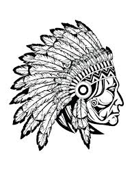 native american coloring pages for adults books free stock vector