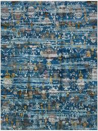 Modern Blue Rug Buy Ethos Sari Silk Rugs And Carpets At Best Price Rugsville