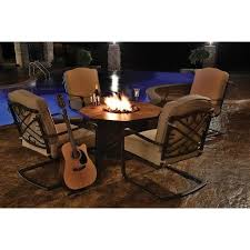 Patio Table With Firepit by Best 25 Fire Pit Patio Set Ideas On Pinterest Patio Sets Brick