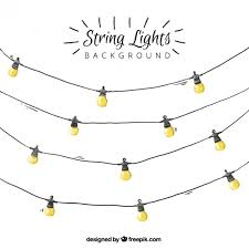 watercolor string lights background vector free