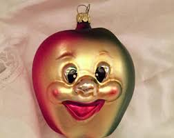 apple ornament etsy