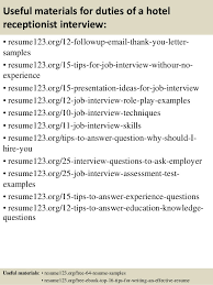 Receptionist Resume Template Receptionist Resumes 14 Top 8 Duties Of A Hotel Receptionist