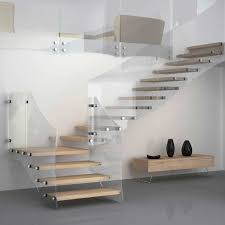 Quarter Turn Stairs Design Quarter Turn Staircase Wooden Steps Glass Frame Without