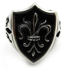 aliexpress buy new arrival cool charm vintage vintage biker fleur de lis royal badge ring for men top