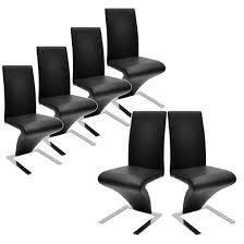 lot de 6 chaises salle à manger chaises salle manger noires similicuir lot de 4 lot de 6 chaises