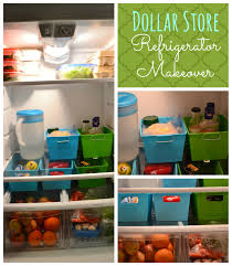 Organizing Ideas For Kitchen by Dollar Store Refrigerator Makeover Refrigerator Makeover Dollar
