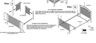 Converting Crib To Toddler Bed Manual Jcpenney All In One Nursery Crib Toddler Bed