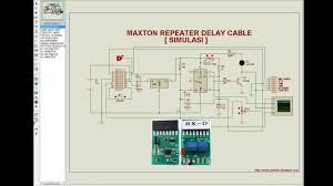 Radio Repeater Circuit Diagram Repeater Delay Cable Simulasi Youtube