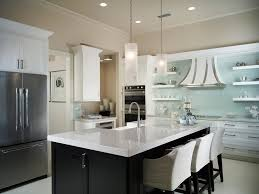 miami kitchen floating shelves contemporary with blue tile