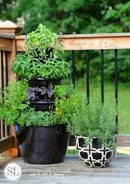 patio herb garden tiered planters bystephanielynn