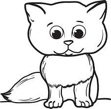 free printable cartoon cat coloring kids