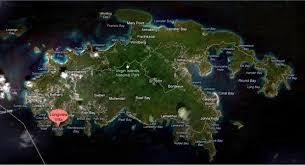road map of st usvi longview villa st usvi