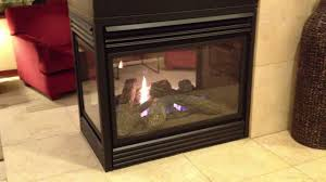 napoleon see thru gas fireplace three sided peninsula burn video