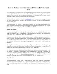 Ways To Make A Resume How To Write A Resume As A Student How To Write A College