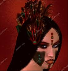 native american fantasy art the dawn warrior u2014 stock photo