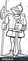 black white cartoon illustration funny knight stock illustration