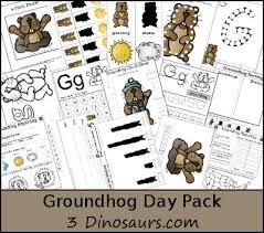 3 dinosaurs groundhog pack