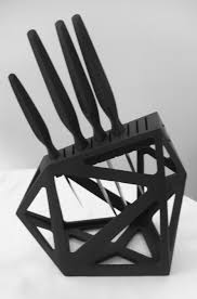 edge of belgravia black diamond knife block and precision knives