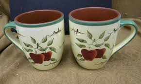 home interiors apple orchard collection set 4 home interiors apple orchard collection coffee cups mugs
