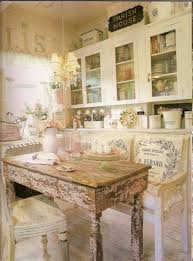 Shabby Chic Kitchens by Shabby Chic Kitchen With Vintage Table And Chairs And Wall Mounted