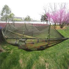 240 120cm portable camouflage hammock with mosquito net outdoor