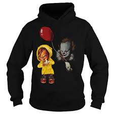 halloween crate chucky and pennywise halloween hoodie