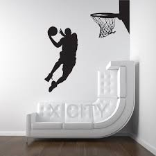 compare prices silhouette wall art online shopping buy low michael jordan basketball player dunk ball dorm decor silhouette wall art sticker vinyl decal room stencil