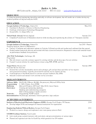 Best Java Resume Engineering Internship Resume Berathen Com