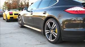 porsche panamera turbo black black porsche panamera turbo yellow brake calipers video