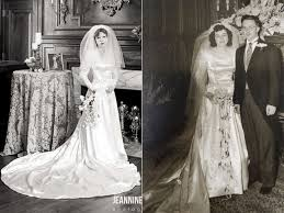 wedding dress in wears great grandmother s 1910 wedding dress in special