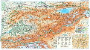 Bishkek Map Kyrgyzstan Wall Map Asia Countries Maps Asia Wall Maps