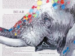 Landhausk He ölbild Elefant Wanddekoration Von Massivum