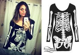 Skeleton Dress Jahan Yousaf Skeleton Bodycon Dress Steal Her Style