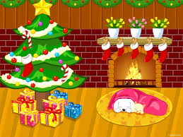 download wallpaper 1600x1200 new year christmas fireplace fur