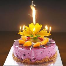 spinning birthday candle lotus candle birthday flower musical rotating floral cake candles