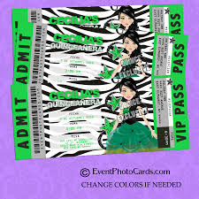 green quinceanera invitations 15 ticket zebra sweet 15 ideas