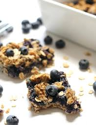table snack cuisine snack bar cuisine healthy blueberry oatmeal snack bars made with no