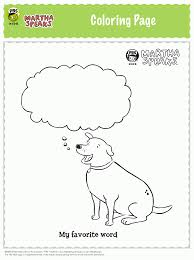 martha speaks coloring pages funycoloring