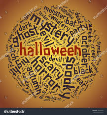 free halloween background for word halloween tagged word cloud words round stock vector 326528840