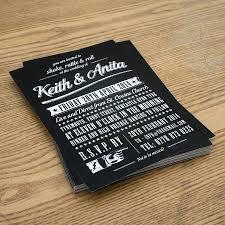 rock n roll vintage type wedding invitation vintage type
