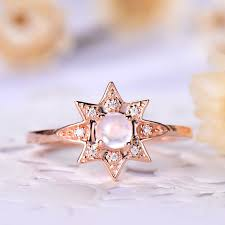 moonstone engagement rings moonstone engagement ring gold sunflower sun rise flower in