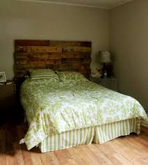 Headboard Made From Pallets Excellent Idea Of Wood Pallets Headboard Image Furniture Wood